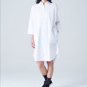 NWT 8Seconds Oversized White Shirt Dress